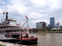 Delta Queen and the Little Rock Skyline