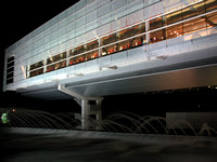 Clinton Library at Night - Fountain