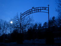 Blue Moon at Booger Hollow Cemetery