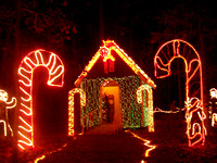 Gingerbread House and Candy Canes - Garvan Woodland Gardens